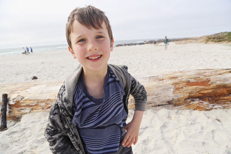 Ben at Asilomar beach