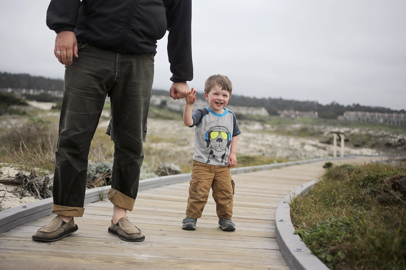 Matt + Nico on the boardwalk, Asilomar