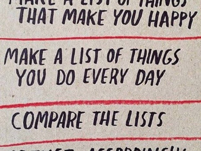 Make a list of things that make you happy.